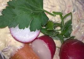 Zahradnická barevná pomazánka s vejci recept