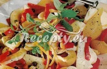 Těstovinový salát s ančovičkami recept  saláty