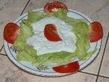 Ledový salát s nivovou zálivkou recept