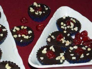 Čokoládové košíčky s mandlemi dia
