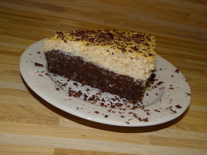Zdravý dortík s tvarohovou vrstvou recept