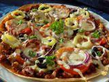 Tortillová pizza s mletým masem recept