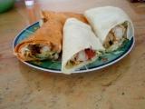 Placky plněné kuřecím masem (domácí tortilla) recept