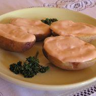 Pečené brambory s přelivem recept