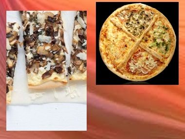 Pizza Houbová a Vajíčková