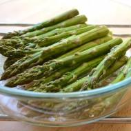 Pečený zelený chřest recept