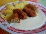 Zelné krokety se sýrovou omáčkou recept