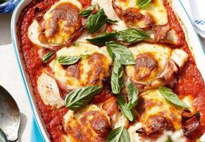 Kuřecí zapečené s rajčaty a mozzarellou
