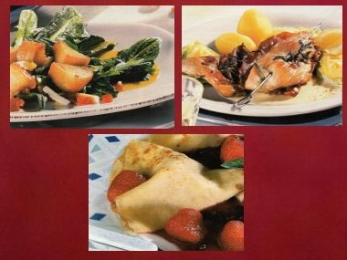 Sváteční oběd 5 pro dva  Krůtí špízy, pampeliškový salát a palačinky