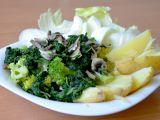 Brokolice se špenátem a žampiony recept