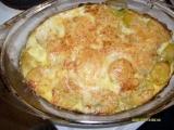 Zapečené brambory se špenátem recept