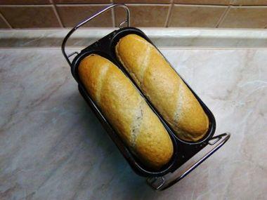 Špaldové bagety z domácí pekárny