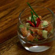 Lososový tatarák s avokádem recept