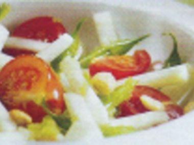 Salát s papájou a krevetami