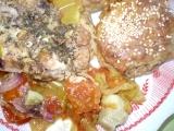 Kuřecí maso s celozrnými placičkami recept