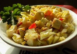 Hermelínový salát bez majonézy recept