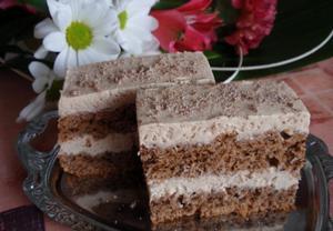 Kávovo-smetanové cappuccino řezy (dort)