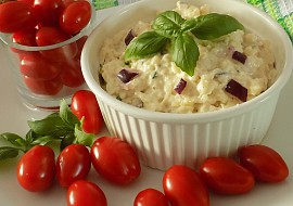 Mozzarellová pomazánka s bazalkou recept