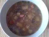 Pohanková polévka s houbami a klobásou recept