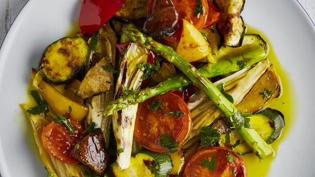 Šťavnatá grilovaná zelenina