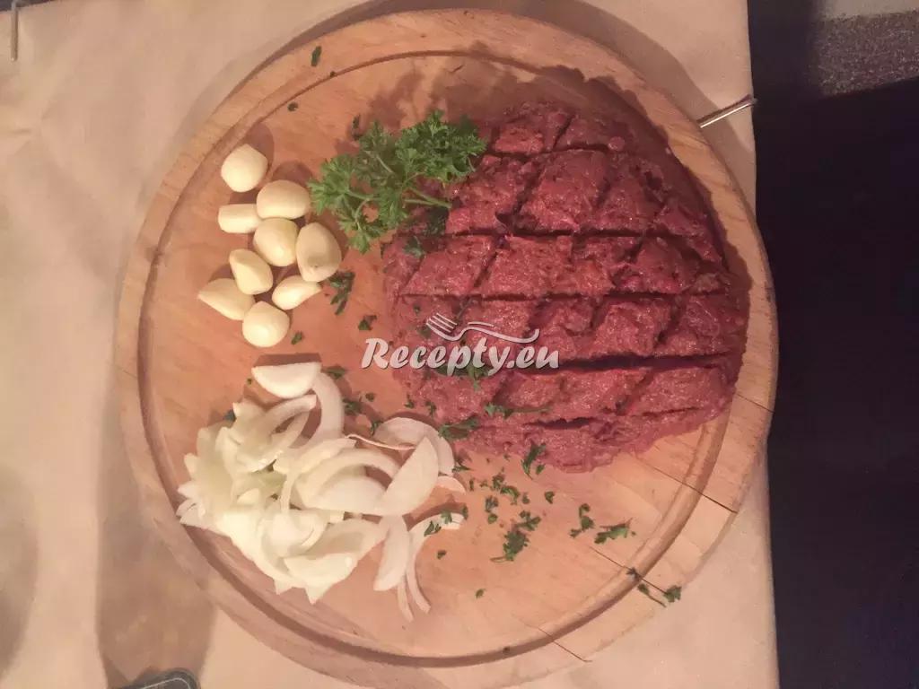 Tatarák recept  hovězí maso