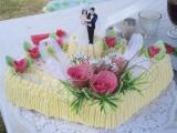 Svatební dort mušle recept