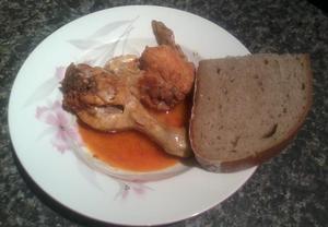 Kuře na chilli a na česneku  výborná rychlovka