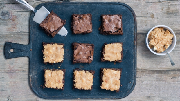 Brownies se slaným karamelem
