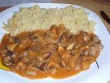 Pikantní žampionový gulášek recept