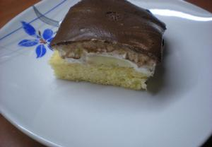 Banánovo  čokoládové řezy