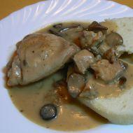 Králík a kuře v houbové omáčce recept