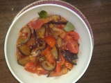 Izraelský baklažánovo-rajčatový salát recept