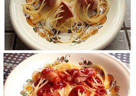 Špagety chobotničky  nejen pro děti recept