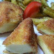 Chilli smažený sýr s paprikovými hranolky recept