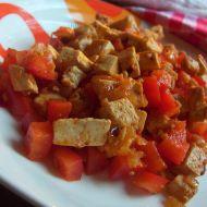 Paprikový tofu salát recept