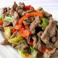 Hovězí nudličky na asijský způsob recept