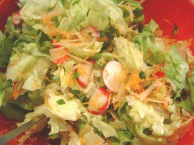 Jarní salát bez zálivky