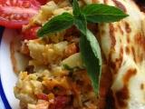 Omeleta s barevnou zeleninou recept