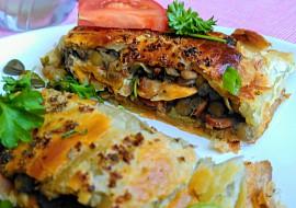 Listový závin s čočkou s kapary, slaninou a vejci recept ...