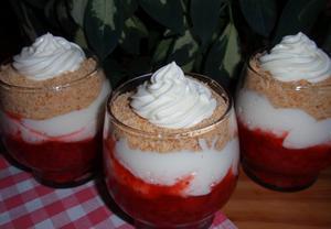 Jahodový (ovocný) pohár