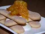 Piškoty s krémem a horkým pomerančem recept
