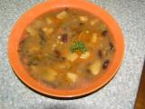 Houbovo-fazolová polévka recept