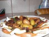 Salat Mozarella s rajcaty a bagetou recept