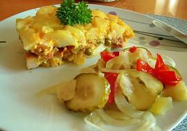 Zapečené brambory s hráškem, smetanou a uzeným masem recept ...
