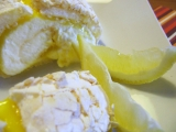 Sněhová citronová roláda recept