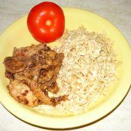 Rychlý těstovinový salát s kuřecím masem recept