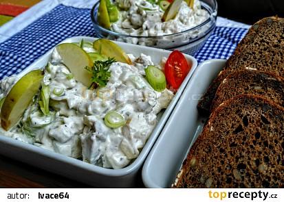Domácí rybí salát ze sleďů recept