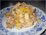 Čočkový salát s pečenáčem recept