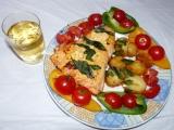 Losos v zálivce z citronu a citronového pepře  (i dietní verze) recept ...