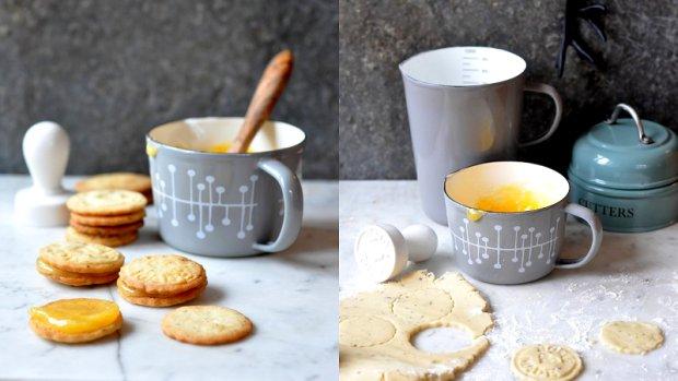 Earl Grey sušenky s lemon curd